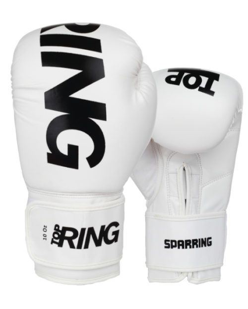 Guanto Sparring Top Ring Bianco