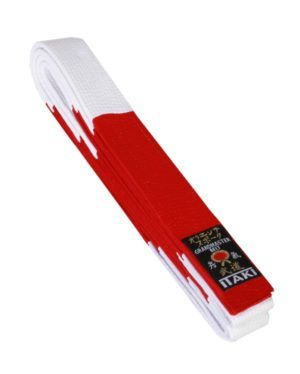 Cintura Itaki Grandmaster Bianco/Rossa