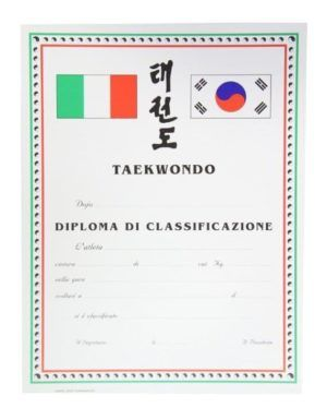 Diploma Taekwondo Classificazione