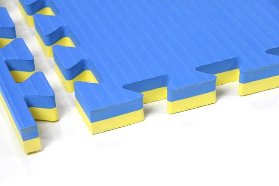Tatami ad incastro 4 cm Giallo/Blu