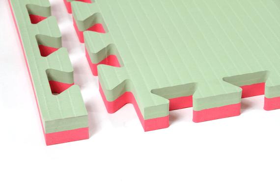 Tatami ad incastro 4 cm Verde/Rosso