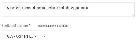 Fermo deposito Reggio Emilia