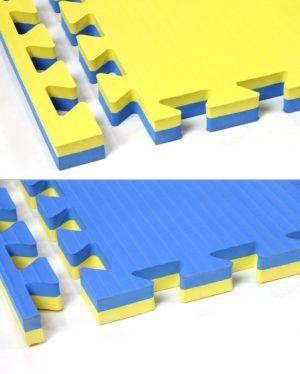 Tatami incastro 4 cm. giallo/blu