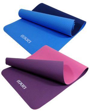 Tappetino Yoga Fitness Pilates Itaki - Tappeto 183x61 cm - Spessore 0,6 cm